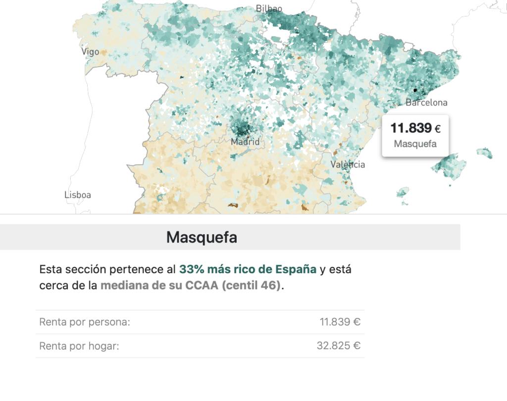 Datavisualisation en Europe du Sud : Espagne