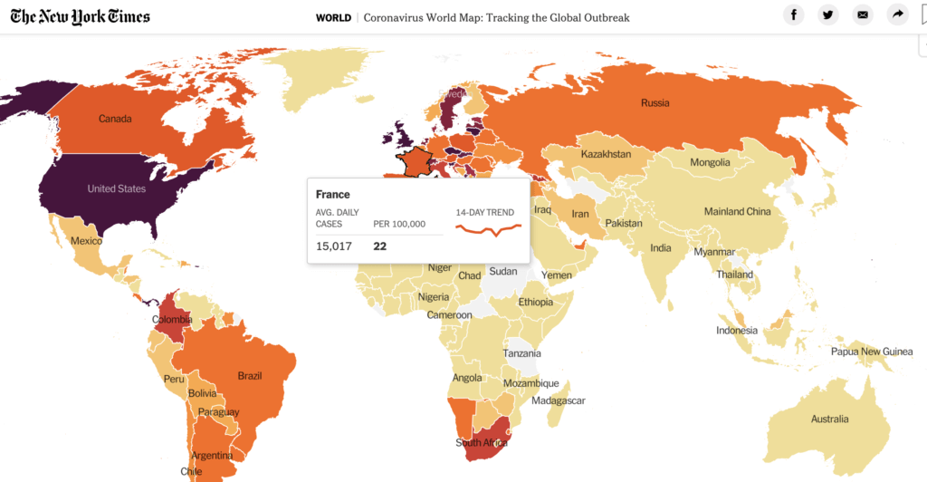 New York Times - Covid datavisualisation