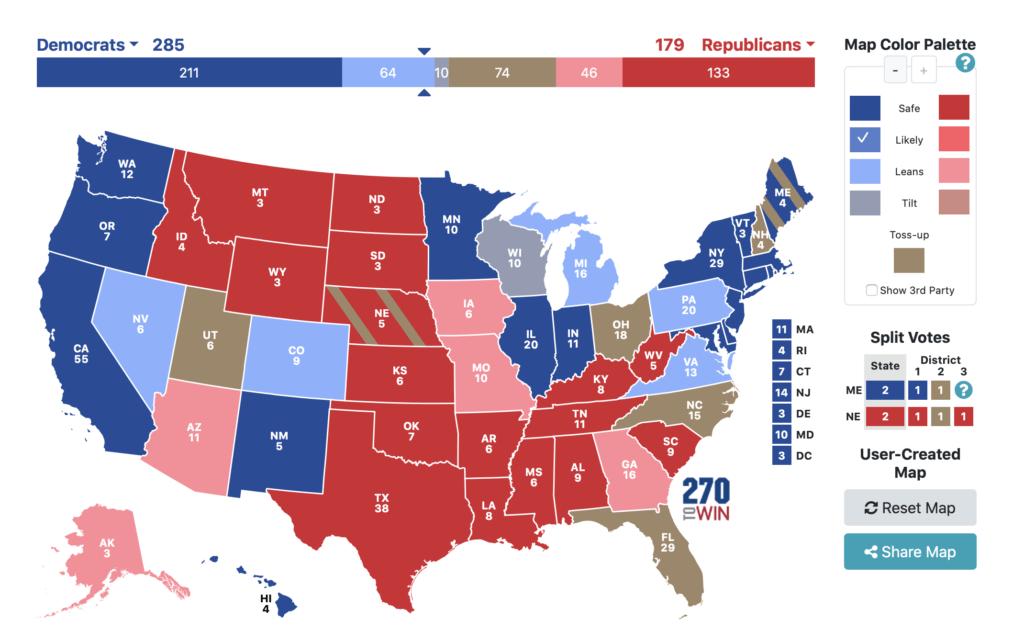 Associated press datavisualisation élections US